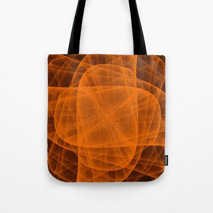 Eternal Rounded Cross in Orange Brown Tote Bag