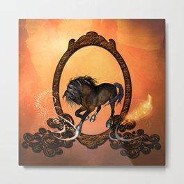 Horse in a frame Metal Print