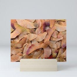 maple tree seeds texture Mini Art Print