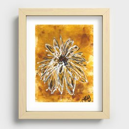 Anemone in Grey Recessed Framed Print