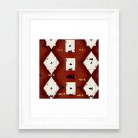poker Framed Art Prints featuring Poker Sharks by Pepita Selles