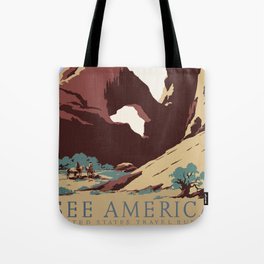 See America National Park Poster Tote Bag