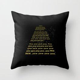 PEW PEW PEW Throw Pillow