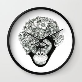 Botanical Ape Wall Clock