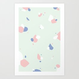 Soft pattern Art Print