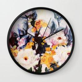 Roses au réveil Wall Clock