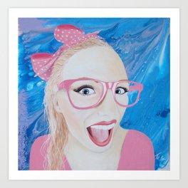 Funny girl Art Print