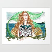 Out of the Sea Art Print