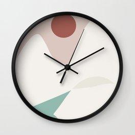 White geometric mountain Wall Clock