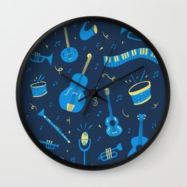 The Spirit of Jazz Pattern Wall Clock