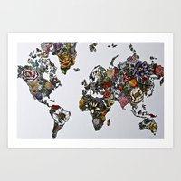Floral World in Color Art Print