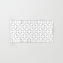 Crossed Arrows Pattern - Black and white Hand & Bath Towel