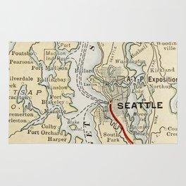 Vintage Map of The Puget Sound (1909) Rug