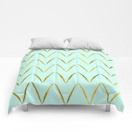 Mint Gold Foil 05 Comforters