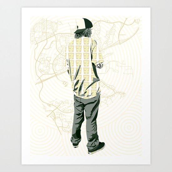 Skater 3 Art Print