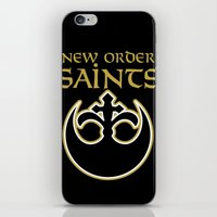 new order iPhone & iPod Skins featuring New Order Saints by Ant Atomic