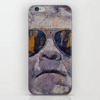 frankenstein iPhone & iPod Skins featuring Frankenstein by Michael Creese