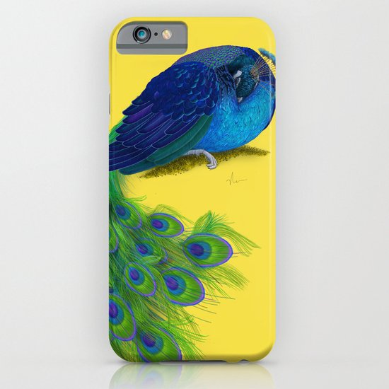 The Beauty That Sleeps - Vertical Peacock Painting iPhone & iPod Case