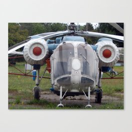 Civil and military helicopters in detail Canvas Print