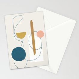 Free Abstract Shapes II Stationery Cards