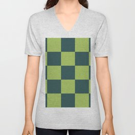 classic green plaid Luca Unisex V-Neck