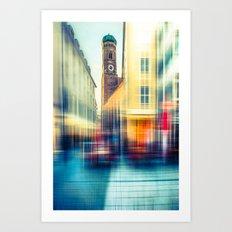 Frauenkirche - Munich - vintage Art Print