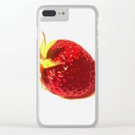 Strawberry - Old Man of the Earth Clear iPhone Case