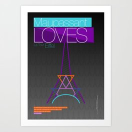 EIFFEL Art Print