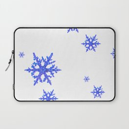 DECORATIVE WINTER WHITE SNOWFLAKES Laptop Sleeve