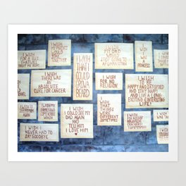 Wall of Wishes Art Print