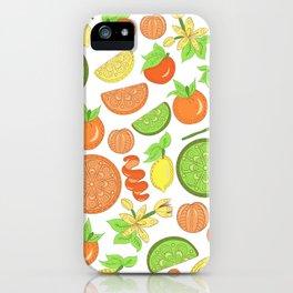 Citrus Garden Pattern iPhone Case