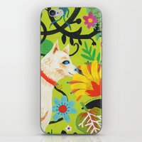 calendars iPhone & iPod Skins featuring Spring Jindo Dog by Janna Morton