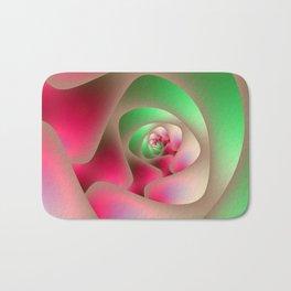 Spiral Labyrinth in Mint and Rasberry Bath Mat