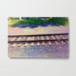 Pastel Railroad tracks Metal Print