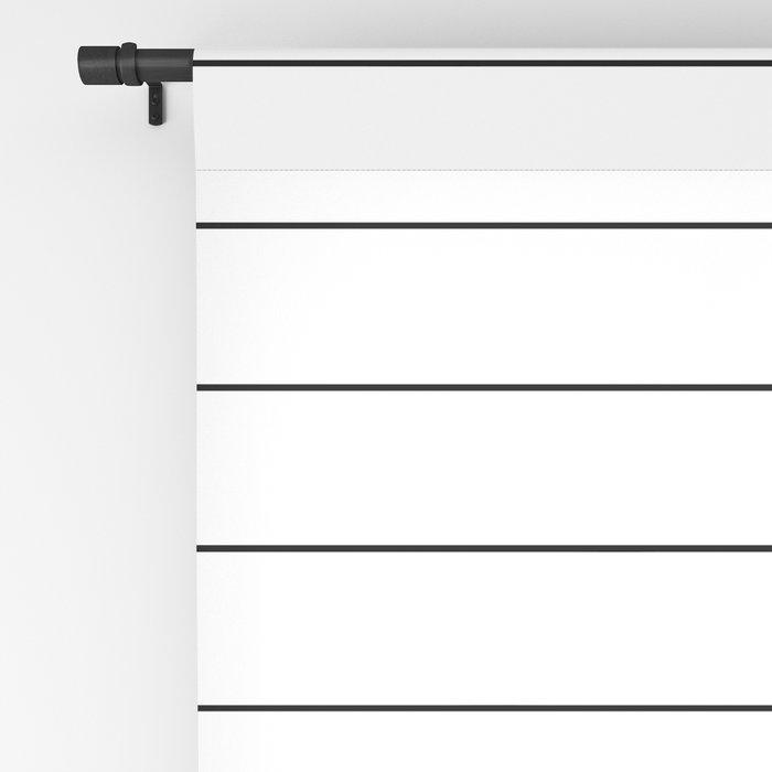 White Black Lines Minimalist Blackout Curtain