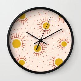 Abstract Suns Wall Clock