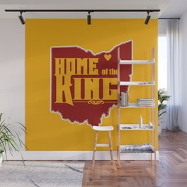 Home of the King (Yellow) Wall Mural