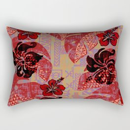 On Fire Kona Tropical Floral Rectangular Pillow