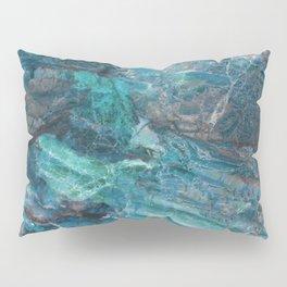 Azzurro Marble, Teal, Aqua, Blue Pillow Sham