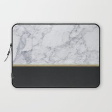 MARBLE GOLD BLACK  Laptop Sleeve
