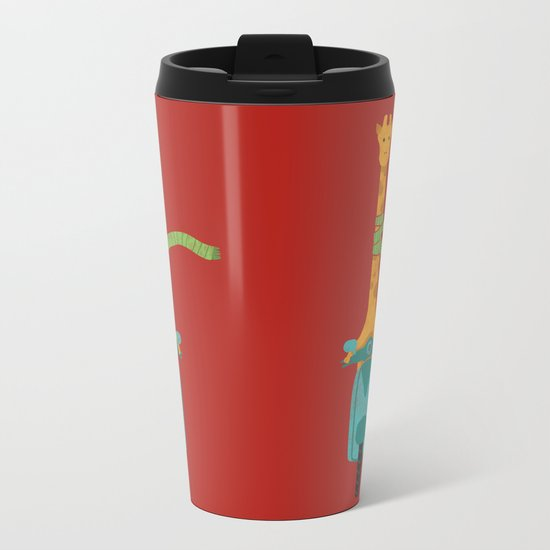 Scooter - ing around Metal Travel Mug