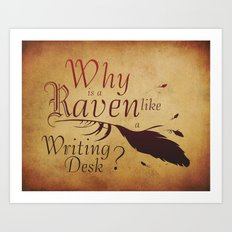 The Raven's Desk Art Print