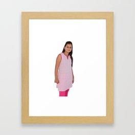 Cotton Indian Kurti for Women Framed Art Print