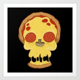 Deadly pizza Art Print