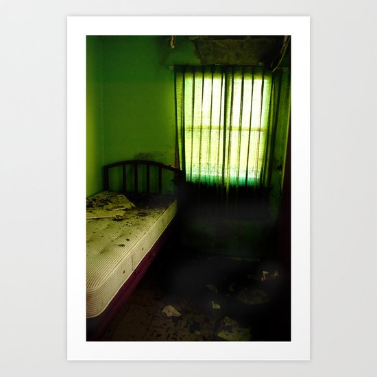 Abandoned Green Nunnery Room Art Print