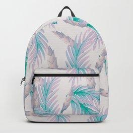 Soft violet floral print Backpack