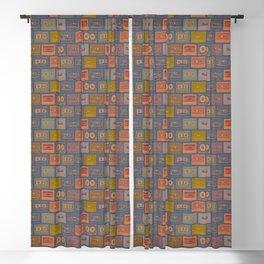 Vintage Cassettes pattern Blackout Curtain