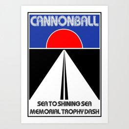 Cannonball Run Art Print