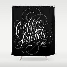 COFFEE & FRIENDS Shower Curtain