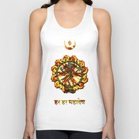 shiva Tank Tops featuring Shiva  by Khana's Web